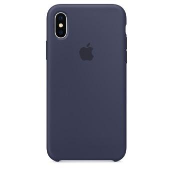 Силиконовый чехол для iPhone X тёмно-синий цвет
