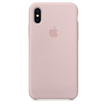 Силиконовый чехол для iPhone X цвет «розовый песок»
