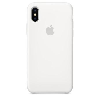 Силиконовый чехол для iPhone X белый цвет